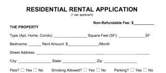 Residential Rental Agreement Simple Standard Rental Application Form Lease Agreement Florida Whatappsco
