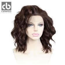 Us 410 68 Mixed Brown Natural Kanekalon Haar Golvend Haar Pruiken Korte Bob Haar Stijl Vrouwen Synthetische Lace Front Pruiken In 68 Mixed