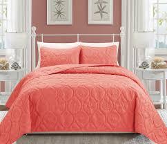 seashell c reversible bedspread quilt set queen