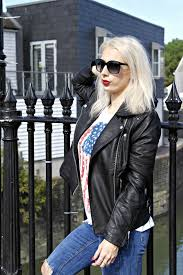 faux leather biker jacket from warehouse