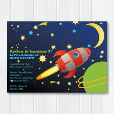 Space Party Invitation Outer Space Birthday Party Invitation Blast Off Invite Rocket Outer Space Party Astronaut Birthday Digital Printable Invitation