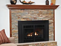 our franklin direct vent inserts feature banded brick liners and hand painted ceramic fiber logs nestled atop the variable flame height burner