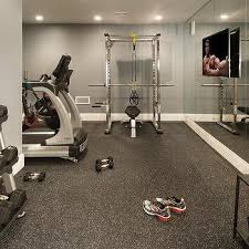 basement gym ideas. Contemporary Gym Basement Gym With Flat Panel TV On Mirrored Walls In Ideas M