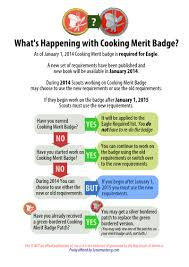 Cooking Merit Badge New Cooking Merit Badge Requirements Released Scoutmastercg Com