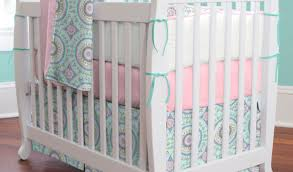 full size of bed crib bedding with white set wooden mini beautiful and aqua pink