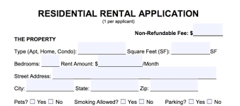 Credit Application For Rental Free Rental Application Form Pdf Word Eforms Free Fillable Forms