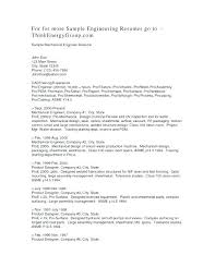 Entry Level Mechanical Engineering Resume Mechanical Engineer