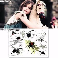 Nu тати черный паук паутина временные татуировки средства ухода за кожей книги по