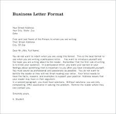 Business Letter Block Format Template Full Style Absolute Gallery