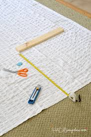 Diy No Sew Curtains No Sew Curtain Hemming In Three Simple Steps H20bungalow