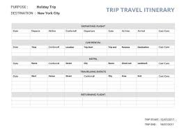 Examples Of An Itinerary 33 Travel Itinerary Templates Doc Pdf Apple Pages