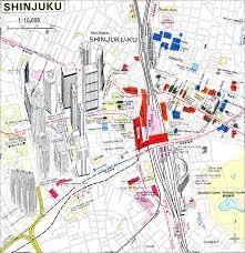 shinjuku tokyo japan tourist map  shinjuku tokyo japan • mappery