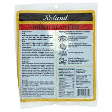 nori sheet roland nori dried seaweed sheets 10 count 1 oz walmart com