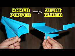 epic paper popper stunt plane loud