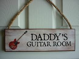 personalised room sign guitar