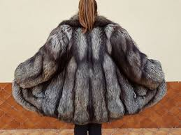 original vintage silver fox fur coat