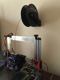 3d printed spool holder wall mount optimized for hatchbox 1 75mm by weber3dprinting pinshape