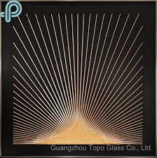 China <b>Luxury Creative</b> Designed <b>Glass</b> Painting with Golden Line ...