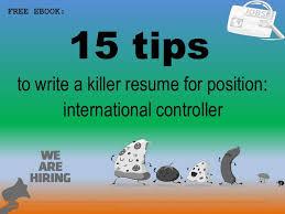 International Controller Resume Sample Pdf Ebook Free Download