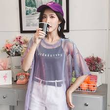 2019 Fashion <b>Hollow Out T Shirt</b> Women Sexy Transparent Summer ...