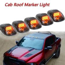 2016 Ram 2500 Cab Lights Us 24 44 17 Off 5 Pcs Set 12led Smoked Cab Roof Marker Light Running Clearance Warm Light Amber For Dodge Ram 1500 2500 3500 4500 5500 2003 2016 In