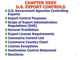 Ppt Chapter Xxxv U S Export Controls Powerpoint
