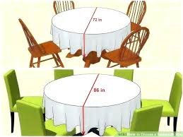 what size tablecloth for a inch round table 3 ways to choose 60 seats diameter how