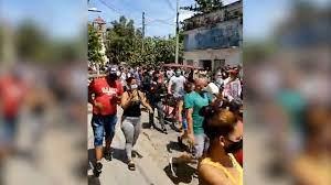 protests across Cuba