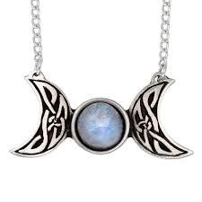 celtic triple moon necklace st justin