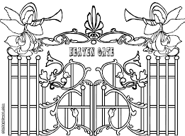 Small Picture Gate colorings Coloring pages to download and print
