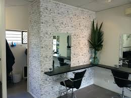 Textured Brick Wallcovering As A Feature For A Local Gold Coast Home Office  Home Office Feature Wall Ideas Office Feature Wall Ideas Home Office Feature  ...