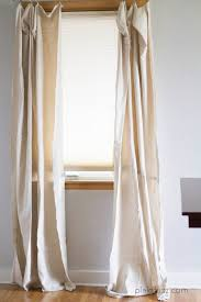 Drop Cloth Curtains Tutorial 5 Minute Drop Cloth Curtains The House Of Plaidfuzz