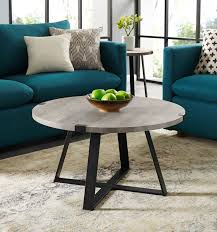 In this video i show you how i go about making some industrial furniture. 30 Rustic Urban Industrial Wood Metal Wrap Round Coffee Table In Grey Wash Black Walker Edison Af30mwctgw