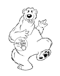 Small Picture Bear Cartoon Animals Coloring Pages For Kids Printable Free