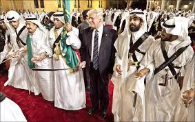 Image result for آل سعود استقلال عربستان را زیر پای ترامپ فرش کرد