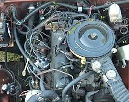 1990 jeep wrangler hoses vacuum lines jeep wrangler forum here is a pic if the 4 2l found in a cj the air filter housing on the 1990 sits directly over the engine instead of the carb
