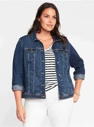 denim plus size trucker jacket