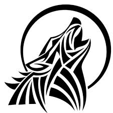 tribal wolf howling silhouette. Howl Wolf Vector Tribal Style Free Throughout Howling Silhouette