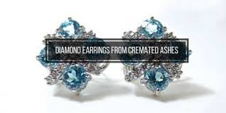 these 5 cremation earrings made with a diamond from heart in diamond pay tribute to your loved one in memorable and unique ways