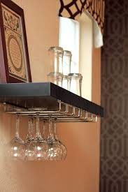 wine glass rack shelf. Brilliant Glass DIY Floating Shelf Wine Rack And Both From Lowes Screw Intended For Glass  Decorations 13  U