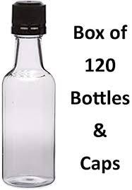 50 ml (1.7 Oz.) Premium Quality Round PET clear <b>small</b> plastic bottle