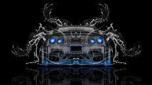 nissan gtr r35 back water car