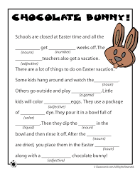 Easter Mad Libs Easter Mad Libs - Chocolate Bunny! – Classroom Jr ...