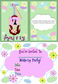 free makeup party invitation template makeup s party makeup party invitations printable free