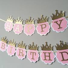 1st birthday banner pink and gold first birthday banner princess birthday banner