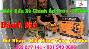 Đột Nhập Kho Hàng Tổng Và Đánh Giá Máy Rửa Xe Chỉnh Áp Gia Đình Mini Boss  2500w NTN - YouTube