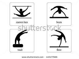 vault gymnastics silhouette. Colorful Gymnastics Web Icon Vector. Woman Disciplines. Vault Silhouette