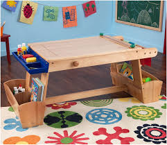 com kidkraft art table with drying rack and storage toys