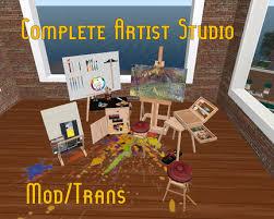 Second Life Marketplace 30 Art Supplies Art Studio Furniture