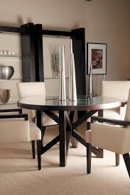 allan copley designs snowmass round 54 inch dining table in espresso with regard to ideas 1